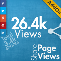 Social Share Page Views AddOn